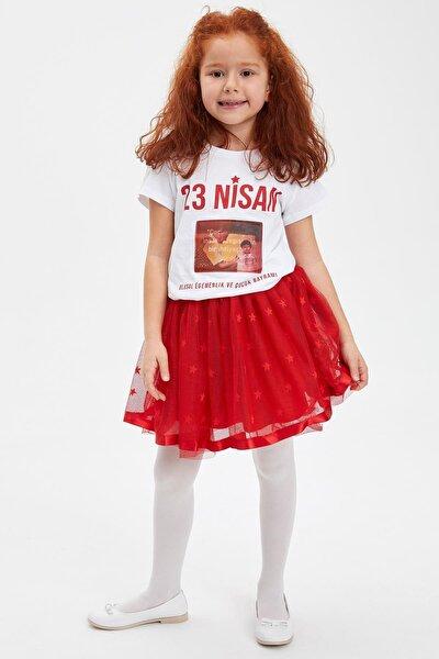 23 Nisan Baskılı Kısa Kollu T-shirt