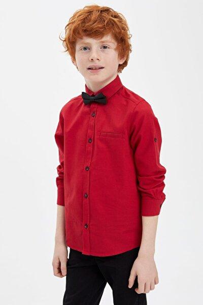 Erkek Çocuk Papyonlu Pamuklu Kolları Katlanabilir Gömlek M5722A620SP