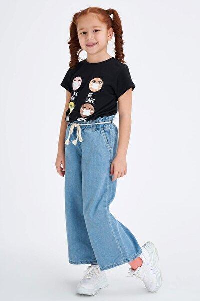 Kız Çocuk Mavi Kot Jeans