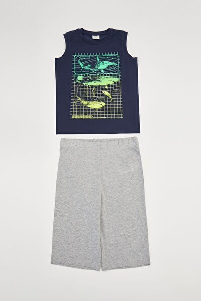 Shark Atlet ve Şort Regular Fit Pijama Takım