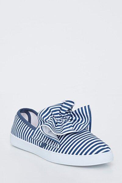 Kadın Çizgili Basic Slip On Ayakkabı K5554AZ.19SP.MR1