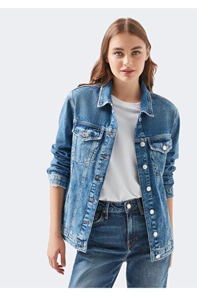 Kadın Mavi Gold Jean Ceket
