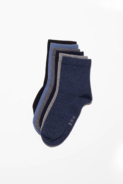 Unisex 6'Lı Paket Basic Soket Çorap
