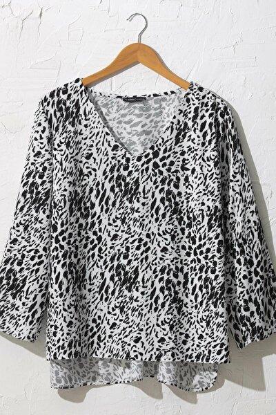 Kadın Siyah Baskılı Bluz 0WDK76Z8