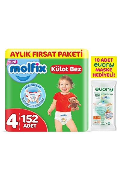 Külot Bez 4 Beden Maxi Aylık Fırsat Paketi 152 Adet + Evony Maske 10'lu Hediyeli