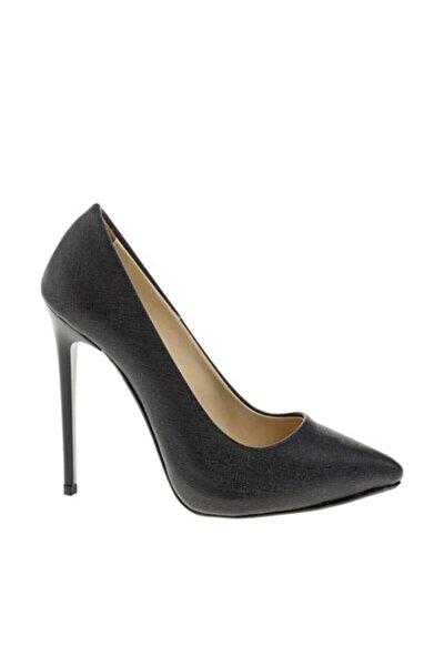 Kadın Siyah Stiletto Topuklu Ayakkabı