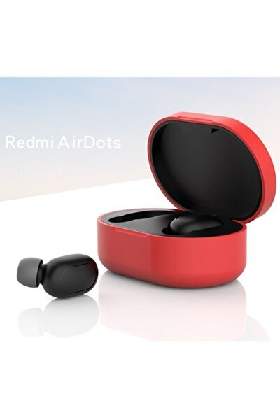 Redmi Airdots Için Silikon Koruma Kılıfı - Kırmızı