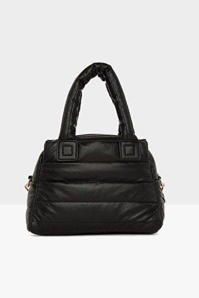 Kadın Siyah Üç Bölmeli Şişme Çanta M000005141