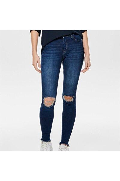 Kadın Mavi Onlblush Mıd Ank Destr Hem Jeans Rea2796