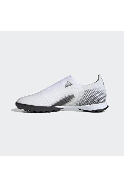 Erkek Beyaz Bağcıksız Halı Saha Ayakkabısı