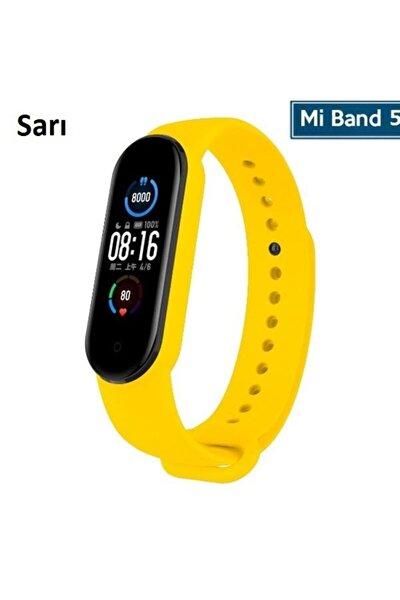 Mi Band 5 Akıllı Bileklik Için Silikon Kayış Kordon (saat Değildir) - Sarı