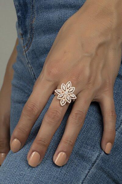 Mikro Taşlı Umut Çiçeği Gümüş Bayan Yüzüğü