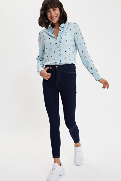 Kadın Karma 3 Kot Anna Yüksek Bel Super Skinny Jean Pantolon L0595AZ.20SP.NM35