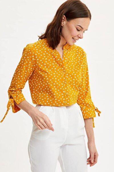 Kadın Sarı Uzun Kollu Gömlek I5280AZ.20SP.YL26