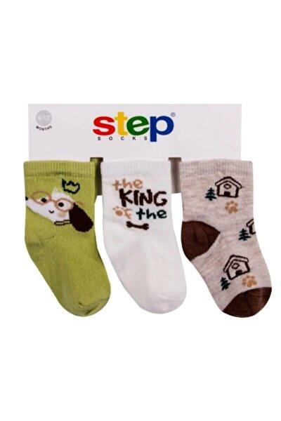 10029 King Dog Bebek Erkek 3'lü Çorap Set