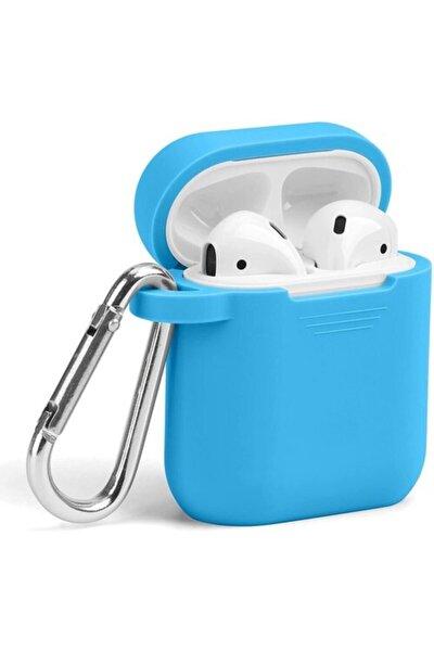 Apple Airpods 1 2 Nesil Kancalı Kulaklık Kılıfı Açık Mavi