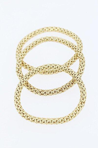 Üçlü Gold Renk Bileklik