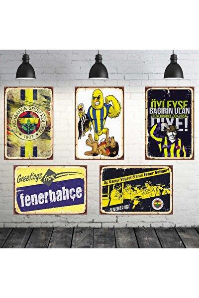 Fenerbahçe Temalı 5 Adet 20-30 cm Mdf Tablo Seti