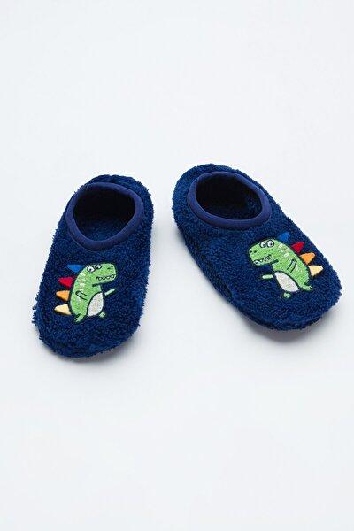 Lacivert Erkek Çocuk Dino 3D Patik Çorabı