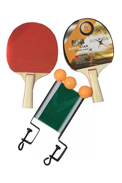 Masa Tenisi Seti - 2 Raketi + 3 Pinpon Topu + File