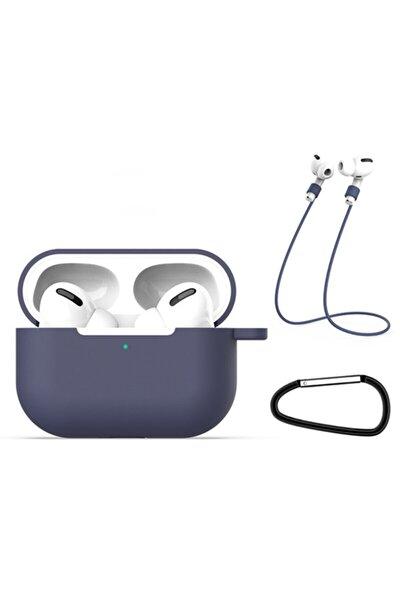 Apple Airpods Pro Için Premium Kılıf+kulaklık Askısı+anahtarlık