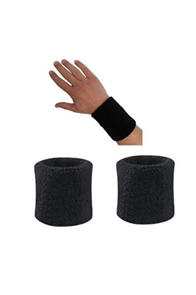 Siyah 2 Adet Havlu El Bilekliği Futbol Basketbol Tenis İçin Bileklik