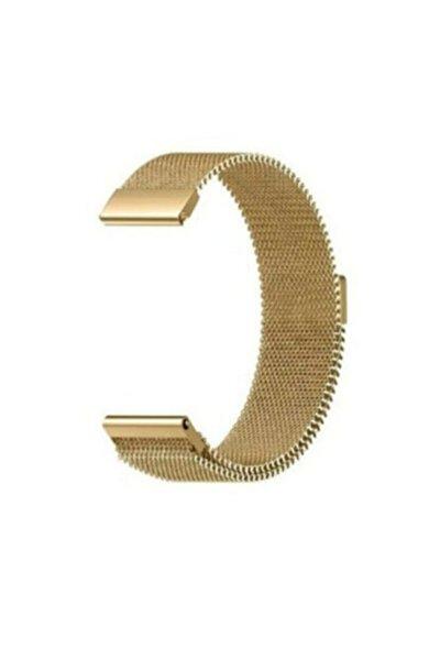 Samsung Galaxy Watch 3 41mm Milanese Loop Kordon Altın Mıknatıslı Kordon