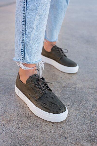 Ch061 Bt Kadın Ayakkabı Haki