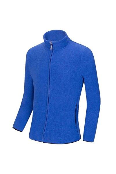 Erkek Mavi Kışlık Polar Sweatshirt