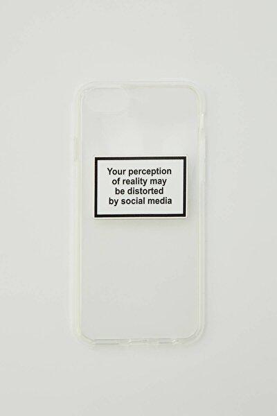 """Beyaz """"Social Media"""" Sloganlı Cep Telefonu Kılıfı 09971369"""