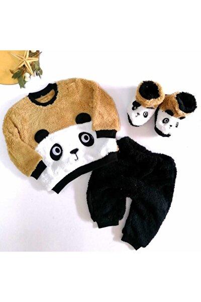 Unisex Bebek Kahverengi Panda 3'Lü Takım