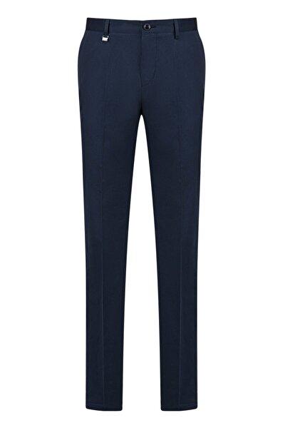 Yandan Cepli Düz Slim Fit Kumaş Pantolon