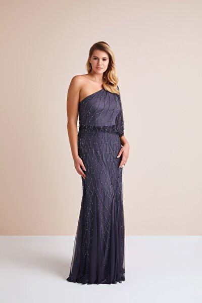 Kadın Lacivert Elbise 4XLWGIN0009_NAVY