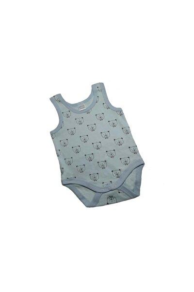 Erlek Bebek Mavi Çıtçıtlı Body