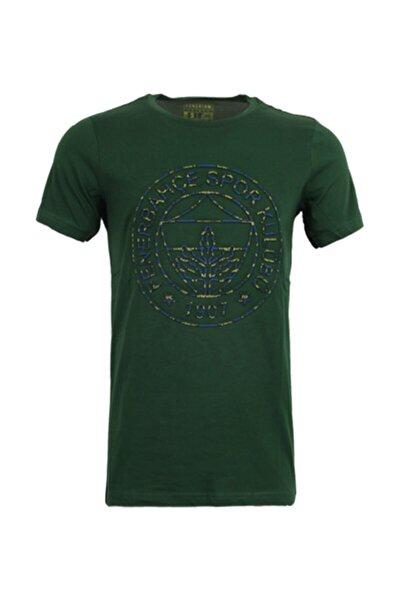 Erkek Yeşil Logo Baskılı T-Shirt