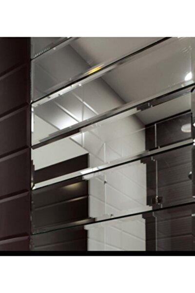 Ayna Dekoratif Ayna Bizoteli Parçalı Ayna Duvar Aynası Bronz 12*60:8