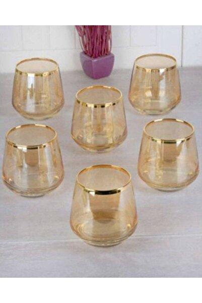 Lal Gold Bal Rengi Su Bardağı Takımı