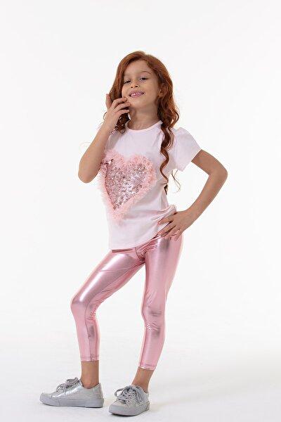 Kız Çocuk Pembe Shiny Tayt