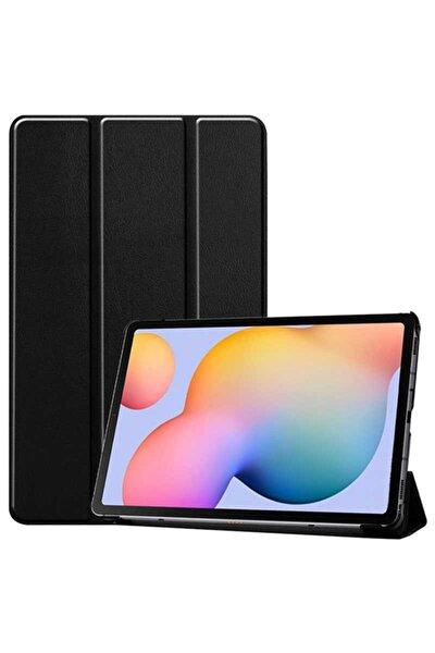 Galaxy Tab A7 10.4 (2020) Smart Cover Standlı Kılıf (renkli Şık Tasarım) Siyah
