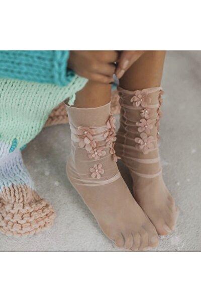 Kadın Pembe Soket Çorap