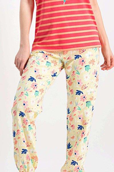 Kadın Nar Çiçeği Tek Pijama Altı