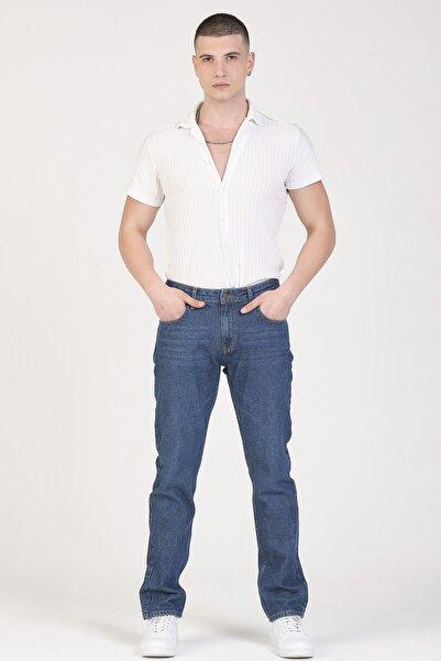 Erkek Koyu Lacivert Regular Fit Jean Pantolon