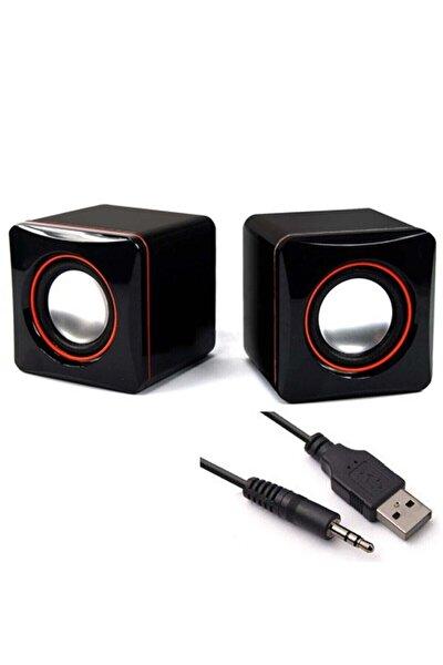 Multimedya 1+1 Mini Pc Hoparlör 2.0 Usb Speaker 2.5w