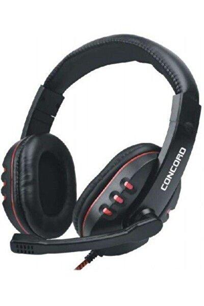 Mikrofonlu Siyah Kafa Üstü Kulaklık 2 Jaklı Concord C 945