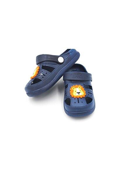 Çocuk Günlük Ortopedik Kaymaz Taban Hayvan Figürlü Çocuk Sandalet Terlik - Lacivert