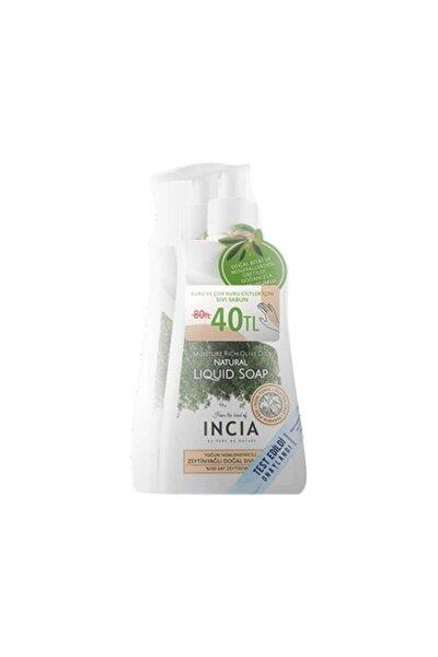 Yoğun Nemlendiricili Doğal Zeytinyağlı Sıvı Sabun 250 Ml 2'li Paket