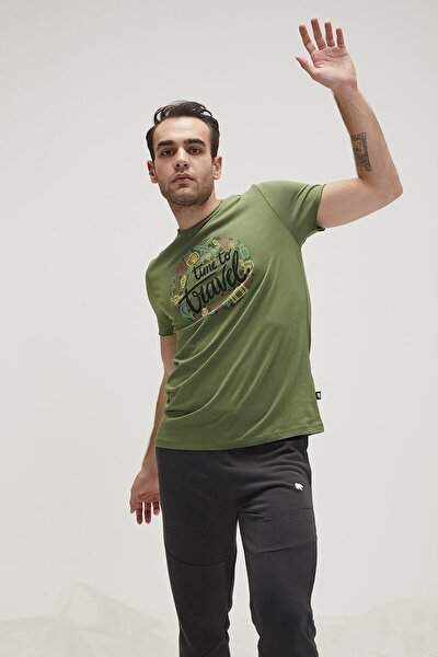 Tıme To Travel Tee Yeşil Kısa Kollu Tişört