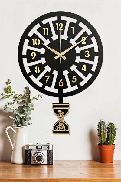 Klasik Zaman- Altın Premium Sallanır Sarkaçlı Duvar Saati