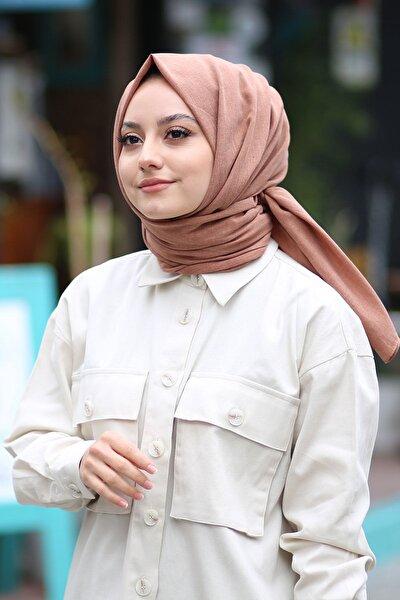 Kadın Taba Cotton Pamuk Şal Ck01