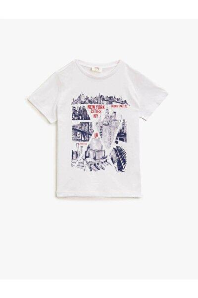 Koton Erkek Çocuk T-shirt Beyaz